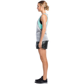 Mons Royale W's Kasey Relaxed Mesh Tank Grey Marl/Peppermint